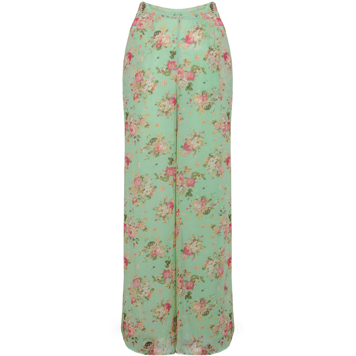 Mint High Waisted Floral Palazzo Trouser Preview
